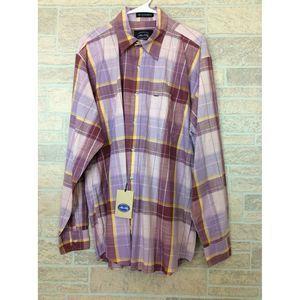 Allen Solly Men's Button Shirt Pink Purple Plaid